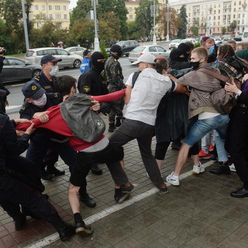 Protest studentów w Mińsku