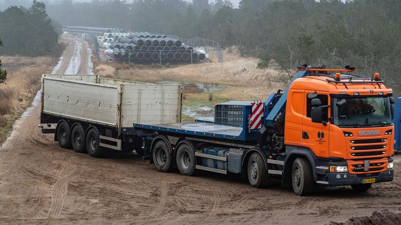 Budowa gazociągu Baltic Pipe. Luty 2021