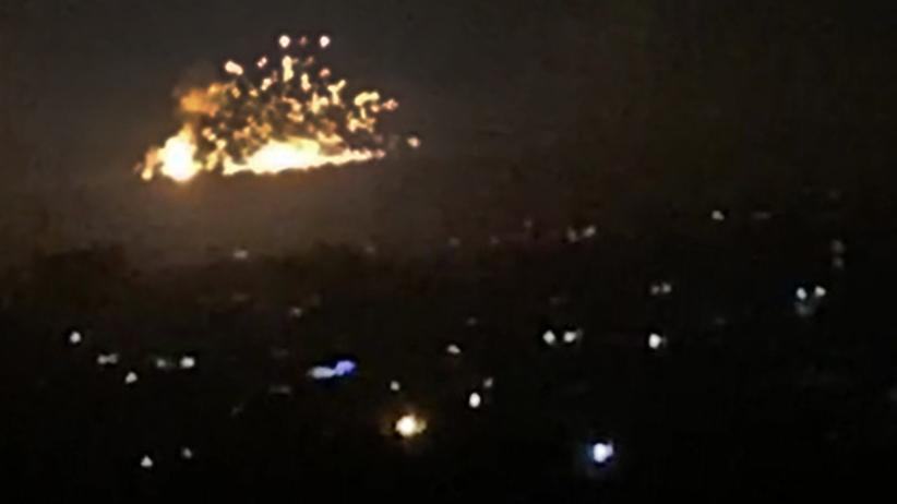 Izrael bombarduje Syrię