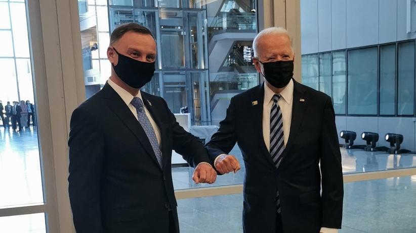 Joe Biden i Andrzej Duda