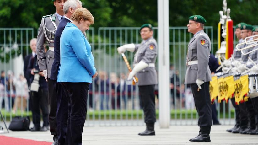 Merkel miała kolejny atak drgawek. Trzeci raz w ciągu miesiąca