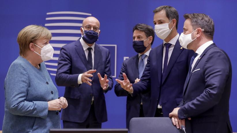 Unijni liderzy na szczycie UE w Brukseli