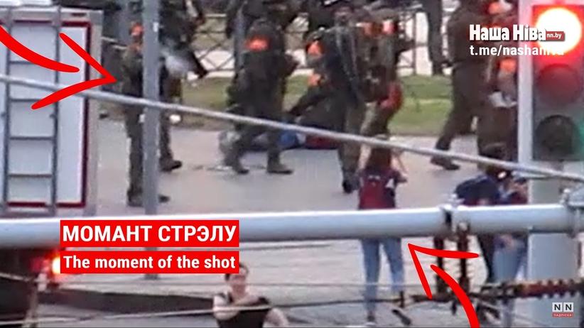 Żołnierz strzela do reporterki. Przerażające nagranie z Białorusi