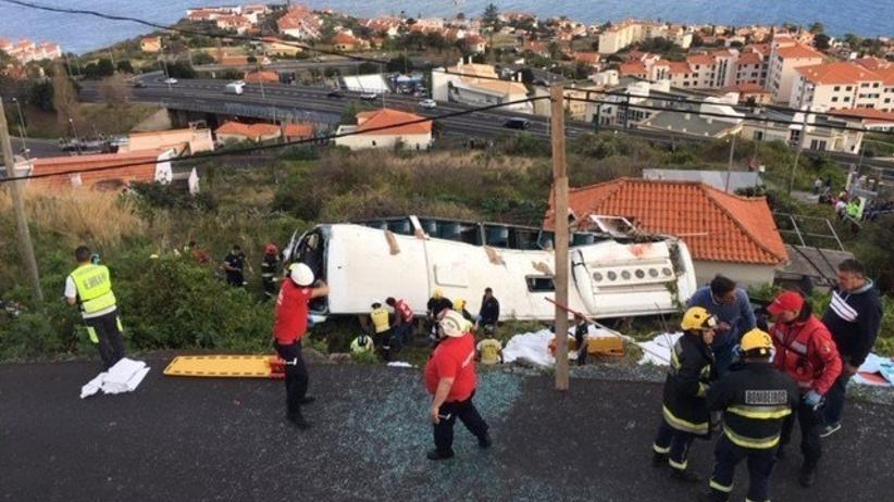 Wypadek autokaru na Maderze. Co najmniej 28 ofiar