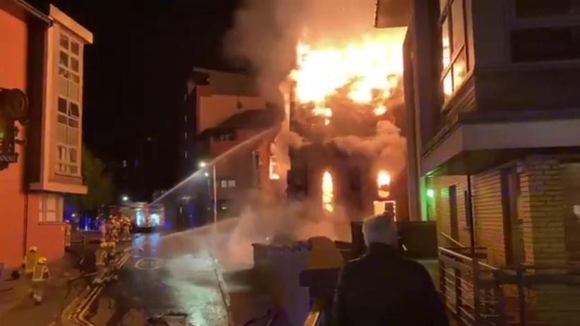 pożar polskiego kościoła w Glasgow
