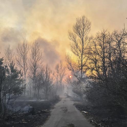 Pożar w Czarnobylu