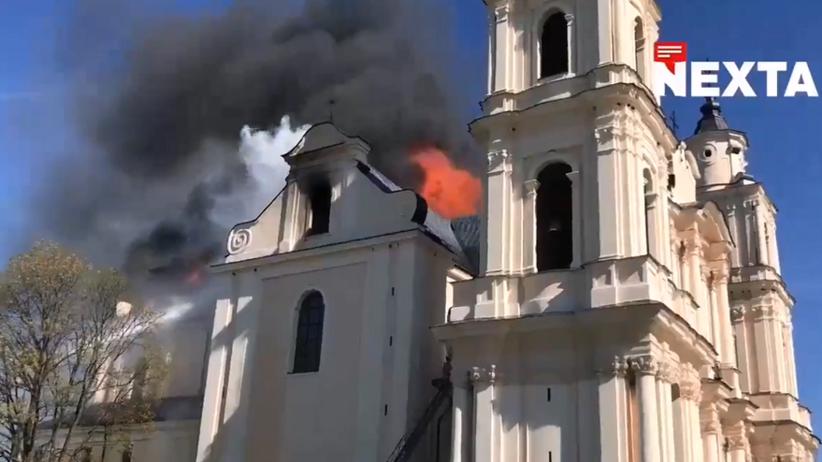 Pożar w kościele Matki Bożej w Budsławiu