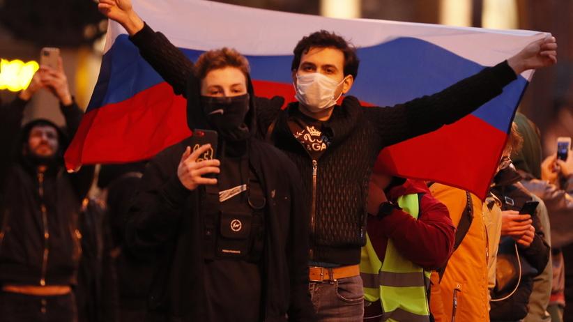 protesty w obronie Nawalnego