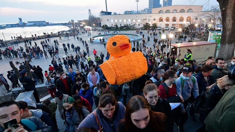 Protesty w obronie Aleksieja Nawalnego w Rosji