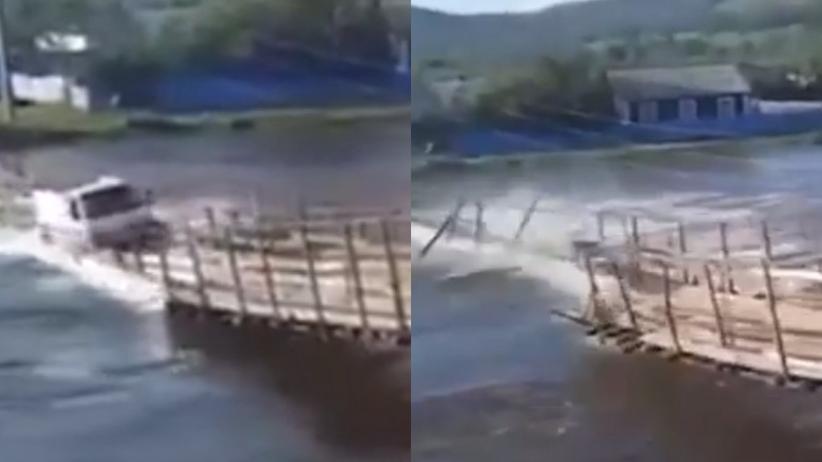 Rosja. Ciężarówka spadła z mostu do rzeki