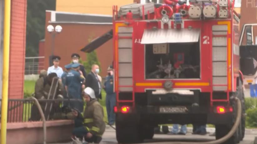 Pożar w szpitalu w Riazaniu