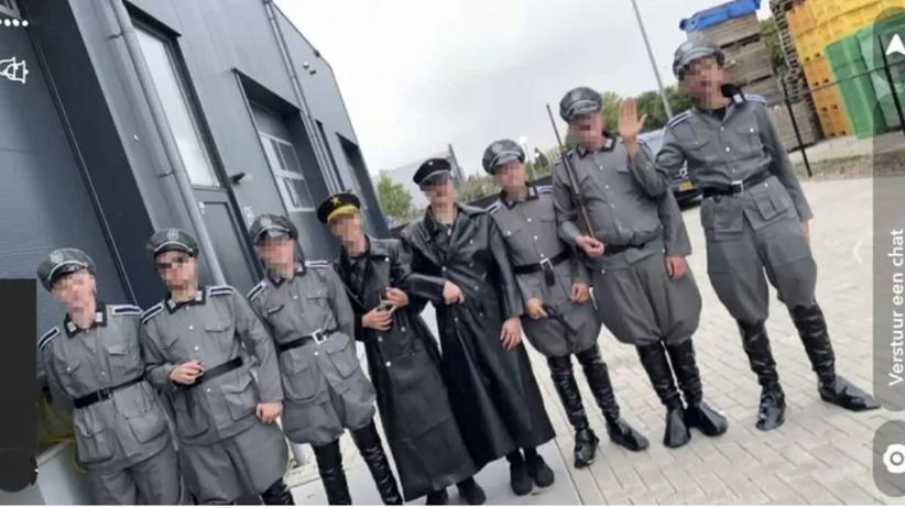 Holendrzy w mundurach nazistów