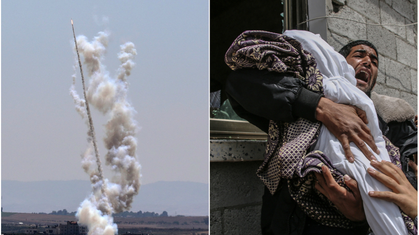 Strefa Gazy. Eskalacja wymiany ognia z Izraelem. Wystrzelono ponad 450 rakiet