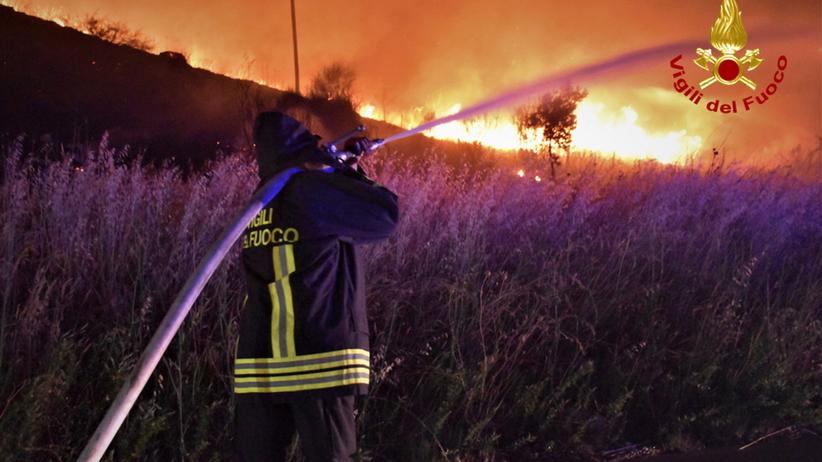 Pożary na Sycylii