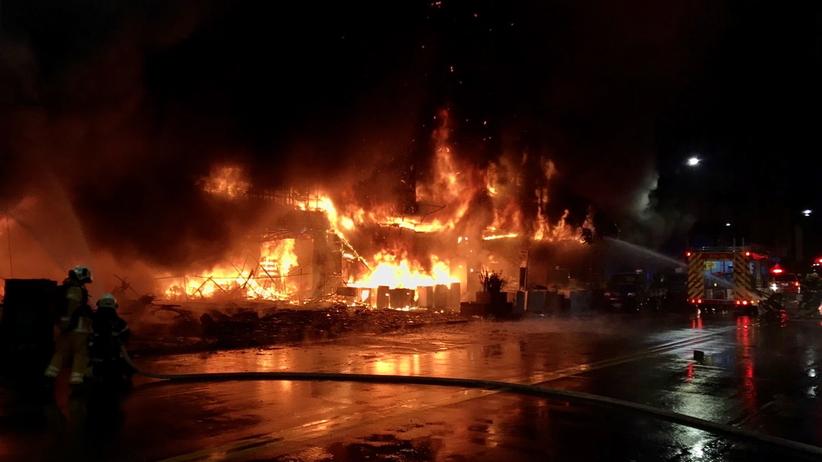 Pożar w Kaohsiung na Tajwanie