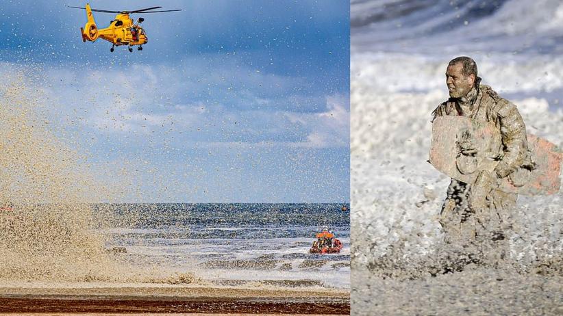 wypadek nad morzem w Holandii