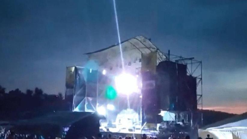 Wichura zerwała dach na scenie festiwalu. Zginęła jedna osoba