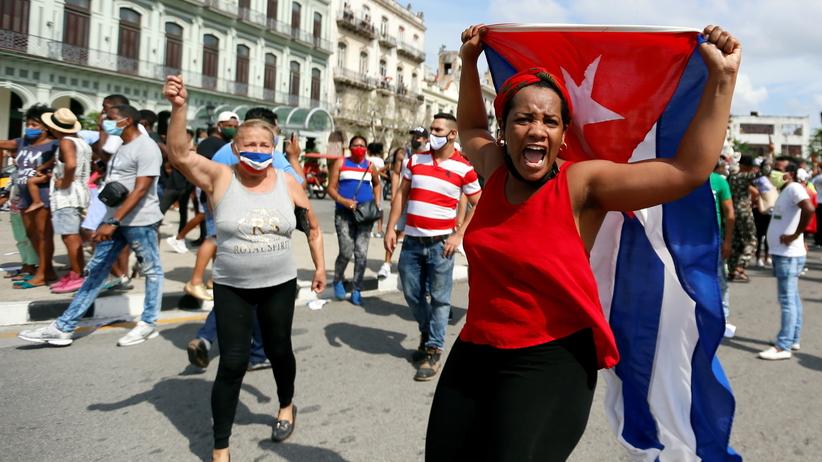 Protesty na Kubie