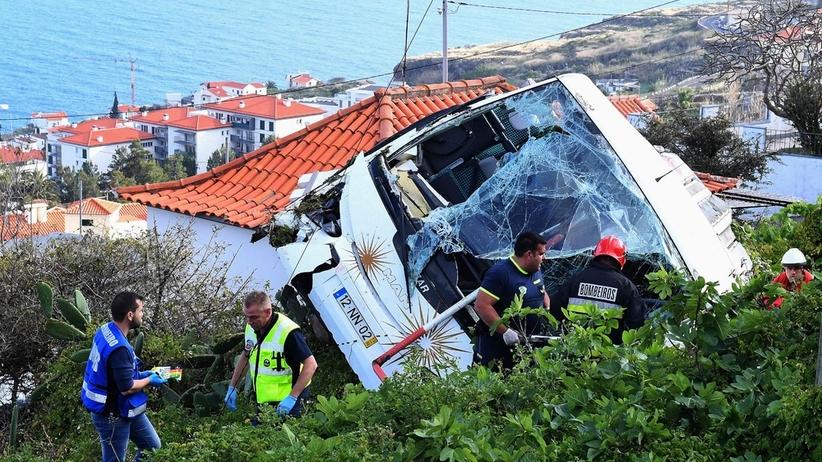Wypadek autokaru na Maderze