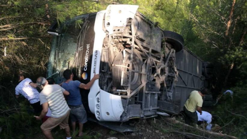 Wypadek autokaru z polskimi turystami w Turcji. Są ranni