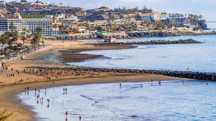 Playa del Ingles na południu Gran Canarii